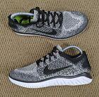 Nike Free RN Flyknit 2018 Running Shoes Black Gray Oreo 942839-101 Women's 9.5