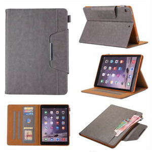 Fashion Leather Stand Case Cover For iPad 9.7 2018 Air Mini 4 Pro Wake Up Skin