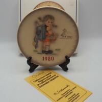 Vintage Hummel 10TH Annual Plate 1980 Goebel School Girl HUM 273 w/ Box