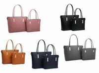 Ladies set of 2 Faux Leather Fashion Handbag Womens Shoulder Bag Hand Bag Work B