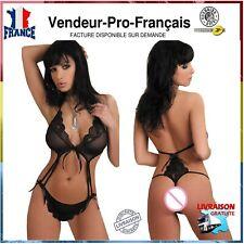 Soutien gorge + string Lingerie Sexy  tenue erotique grandes tailles M L XL XXL