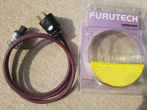 Furutech FP-320Ag OFC Power Cable x 1.75 Metre Approx with F1-UK 1363(G) Plug