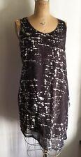 ACNE Studios Gray Black Printed Asymmetric Dress EU 38 US 6