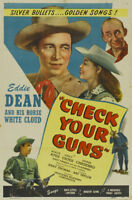 Check your guns Eddie Dean vintage movie poster print