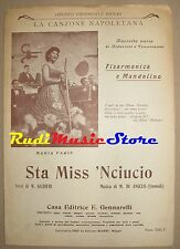MARIA PARIS sta miss 'Nciucio RARO SPARTITO SINGOLO 1959 Angelis no cd lp dvd mc