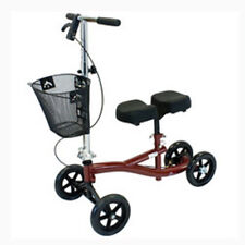 Roscoe Steerable Turning Knee Scooter, Walker, Burgundy (Free Shipping)