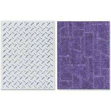 Sizzix Texture Fades Embossing Folders By Tim Holtz - 211534