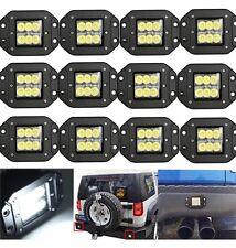 "12 Dually Flush Mount 24W 5"" CREE Flood LED Light Pod Ford Jeep Jk 4X4 Off-Road"