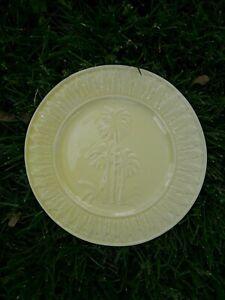 "BORDALLO PINHEIRO PORTUGAL PALM TREE PLATE YELLOW, 8"", EUC"