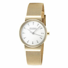 Skagen Ancher SKW7202 Women's 26mm White Dial Stainless Steel Mesh Watch