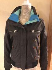Special Blend 10K Calyx Collection Black Hooded Snowboarding Ski Jacket Sz S (K2