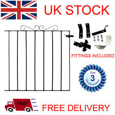Metal Garden Gate Wrought Iron Dover Scroll - 3 Year Guarantee - Free Delivery