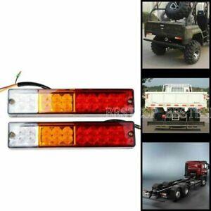Pair  LED Carvan Truck Trailer Stop Rear Tail Reverse Light Indicator Lamp