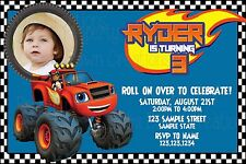 Blaze Monster Truck Custom Birthday DIGITIAL DELIVERY Invitation