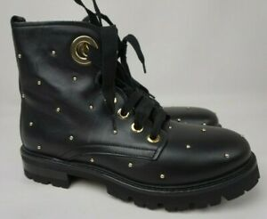 AGL Studded Combat Boots Black Moto Biker Women's Size 38 $550+
