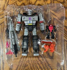 Transformers Siege Megatron Figure Voyager Netflix Lionizer Pinpointer set lot