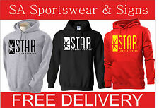 STAR LABS CUSTOMISED PRINTED GILDAN  HOODIE THE FLASH TV SERIES FAN  S-XL