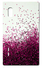 CUSTODIA COVER CASE FANTASIA BRILLANTINI  ROSA PINK PER CELLU LG Optimus L5 E610