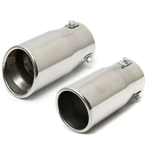 Stainless Steel Bevel Car Exhaust Pipe Tip Muffler Trim Tail Tube US Shipping