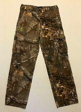 RealTree Camo Cargo Hunting Pants Youth Boys XL 14/16