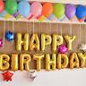 "16"" ""Happy Birthday"" Foil Alphabet Letters Balloons Party Decor (13 pieces)"