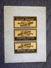 Vintage Purdue University Creamery Uncut Butter Labels Sheet 3 on a Page