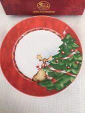 Hutschenreuther Weihnachtstraum - n.1 piatto tondo Natale porcellana - 21,5 cm.