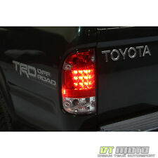 1995-2000 Toyota Tacoma Lumileds LED Red Clear Tail Lights Lamp 95-00 Left+Right