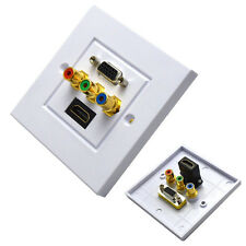 HDMI VGA 3RCA AV Wall Plate Composite Video Audio Adapter Jack Outlet HDTV