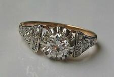 Ring mit Brillant Diamant Diamond 0,70 ct. 18 Kt. 750 Gold antik Finger Gr.55