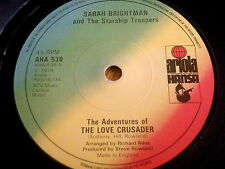 "SARAH BRIGHTMAN - THE LOVE CRUSADER  7"" VINYL"