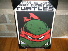"TEENAGE MUTANT NINJA TURTLES TMNT ANGRY RAPHAEL 13"" X 19"" WOOD WALL PLAQUE RARE!"