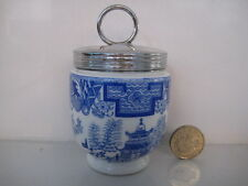 VERY RARE EARLY ROYAL WORCESTER EGG CODDLER WILLOW BLUE AND WHITE UNUSUAL MARK