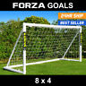FORZA Football Goal   8ft x 4ft   Garden Goal For Kids   Weatherproof goal   PVC