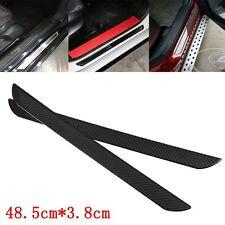 2 x porte de voiture universel en fibre de carbone véritable érafler plaque de filon-couche de couverture panneau protecteur