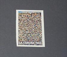 AFFICHE LA CORUÑA ESPAÑA 82 RECUPERATION PANINI FOOTBALL ESPAGNE 1982 WM