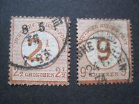 Deutsches Reich MiNr. 29-30 gestempelt  (Z 488)