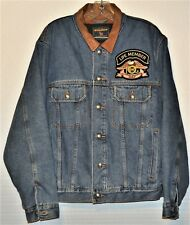 G1145-HARLEY OWNERS GROUP Lifetime Member/Woolrich Denim Trucker Jacket~SZ M~EUC