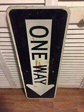 "VINTAGE 36"" x 12"" ONE WAY Right Arrow Reflective Aluminum Road Street Sign Ohio"