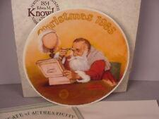 Norman Rockwell Christmas Collector Plate 1985 Grandpa Plays Santa  MIB w/ COA