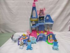 Fisher price little people Cinderella palace castle chariot horse figures blue