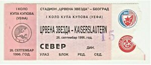 1996, RED STAR Serbia v KAISERSLAUTERN Germany! UEFA Cup Winners' Cups