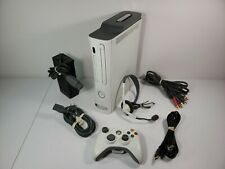Microsoft Xbox 360 60GB White Console w/Controller, Headset & Cords TESTED WORKS