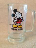 Vintage Glass Walt Disney Mickey Mouse Mug 5 inch Tall