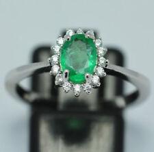 Anelli di lusso smeraldo naturale in argento