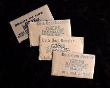 Vintage Gem Demaskeene Single Sided Safety Blades w/ Envelopes Unused Shaving