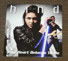 Eurovision Song Contest 2008 Netherlands Hind Your Heart Belongs to me CD single