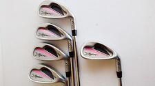 Set of 5 TiTech X GEN II Golf Clubs - R-Flex Steel Shafts - VG Grips (+1/2)