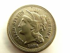 1869 United States Three (3) Cent Nickel