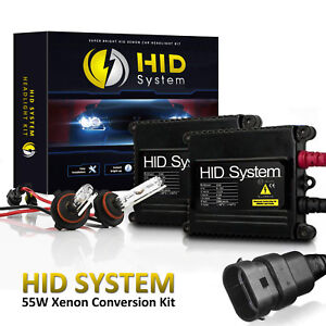 HidSystem Xenon Lights Slim 55W HID Kit for H1 H3 H4 H7 H10 H11 H13 9006 9004 90